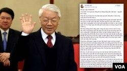 Một doanh nhân viết một thư ngỏ kêu gọi Tổng bí thư Nguyễn Phú Trọng nhìn vào những bất công của xã hội và lắng nghe tiếng nói của người dân trước những bức xúc hiện nay.