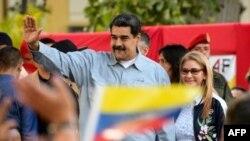 Tổng thống Venezuela Nicolas Maduro và vợ tại một sự kiện.