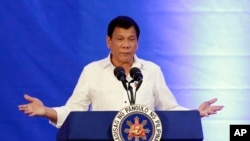 Presiden Filipina Rodrigo Duterte mengobarkan perang terhadap narkoba yang merenggut ribuan nyawa setiap tahun (foto: dok).
