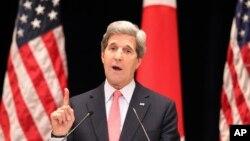 Ngoại trưởng Hoa Kỳ John Kerry đọc diễn văn tại Đại học Kỹ thuật Tokyo, ngày 15/4/2013.