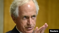 FILE - Senate Foreign Relations Committee Chairman Bob Corker says he thinks the Senate's bill dealing with sanctions on North Korea is a significant enhancement of the House version.