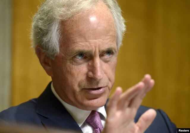 FILE - Senator Bob Corker, chairman of the Senate Foreign Relations Committee.