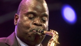 FILE - Tenor saxophonist Maceo Parker performs at the Paleo Festival in Nyon, Switzerland, July 25, 2001.