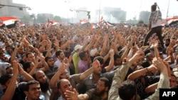 Người biểu tình bày tỏ sự phẫn nộ tại Quảng trường Tahrir, ngày 2/6/2012