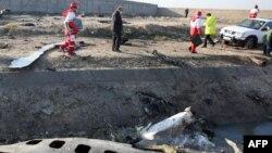 乌克兰航空班机伊朗坠毁事故现场(2020年1月8日)