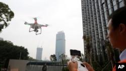 资料照片:中国制造的无人机