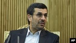 Iranian President Mahmood Ahmadinejad (file photo)