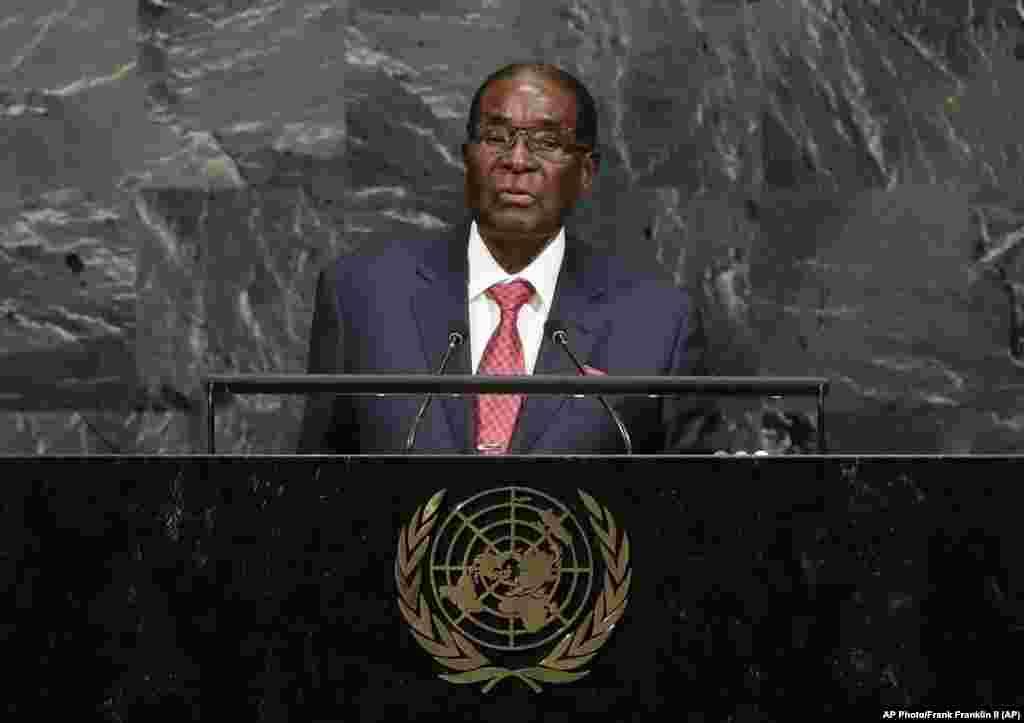 Zimbabwe President Robert Mugabe - UNGA 2017