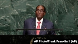Zimbabwe President Robert Mugabe - 72nd Session of the UN General Assembly