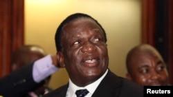 Zimbabwean Deputy President Emmerson Mnangagwa. File Picture.