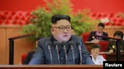 Le leader nord-coréen Kim Jong Un, Pyongyang, le 29 août 2016.(KCNA)