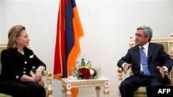 Հիլարի Քլինթընի և Սերժ Սարգսյանի միջև հանդիպումը 2010 թվականի հուլիսի 4–ին (արխիվային լուսանկար)