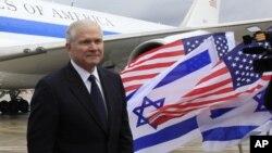 美國國防部長蓋茨星期四抵達以色列城市特拉維夫