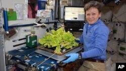 Astronot AS Peggy Whitson saat berada di Stasiun Antariksa Internasional (ISS) pada 30 Mei lalu (foto: dok).