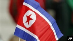 북한 인공기. (자료 사진)