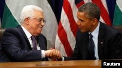 Барак Обама и Махмуд Аббас на Генассамблее ООН