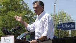 Republican presidential candidate Romney speaks in Hillsborough, New Hampshire, May 18, 2012.
