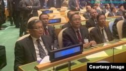 Myanmar Delegation in UNGA 2019