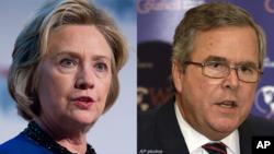 Хиллари Клинтон и Джеб Буш
