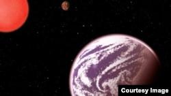 Ilustración del planeta KOI-314c presentada por el Centro para Astrofísica Harvard-Smithsonian.