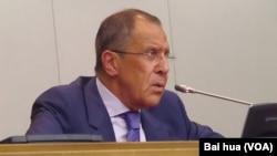 俄羅斯外長拉夫羅夫 (美國之音白樺拍攝)