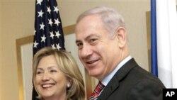 美国国务卿克林顿与以色列总理内塔尼亚胡
