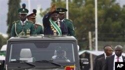 Le président Goodluck Jonathan le jour de son investiture