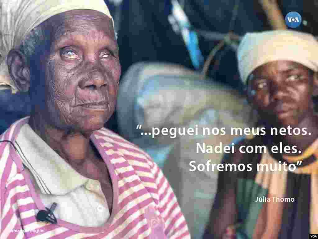 Júlia Thomo, a idosa que nadou para salvar os netos - conheça a sua história seguindo a #retratosidai ou http://bit.ly/2Gz-VOA no Instagram da VOA Portugues
