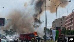 尼日利亚10月1日爆炸现场