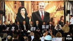 Sebuah acara mengenang PM Rafik Hariri di Beirut. Hariri dibunuh pada tanggal 14 Februari 2005.