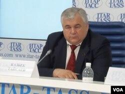 俄共国家杜马议员塔伊萨耶夫2014年在塔斯社的一场新闻会上。