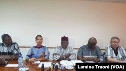 Le Comité du mémorial Thomas Sankara, Ougadougou, le 3 mars 2019. (VOA/ Lamine Traoré)