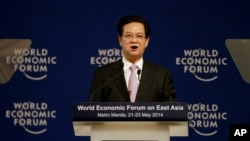 ဗီယက္နမ္ဝန္ႀကီးခ်ဳပ္ Nguyen Tan Dung World Economic Forum တြင္ မိန္႔ခြန္းေျပာ။ (ေမ ၂၂၊ ၂၀၁၄)