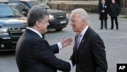 Петр Порошенко и Джо Байден. Киев, Украина. 21 ноября 2014 г.