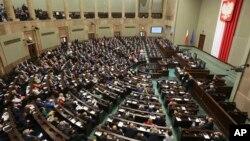 Заседание польского Сейма (архивное фото)