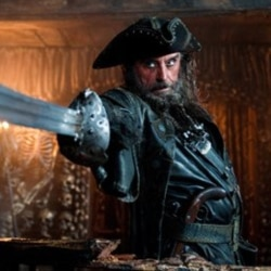 "Ian McShane as Blackbeard in the film ""Pirates of the Caribbean: On Stranger Tides"""