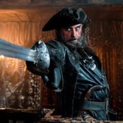 "Ian McShane as Blackbeard in the film ""Pirates of the Caribbean: On Stranger Tides"""