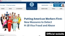 The U.S. Citizenship and Immigration Services website signals a new approach to granting H1-B visa.