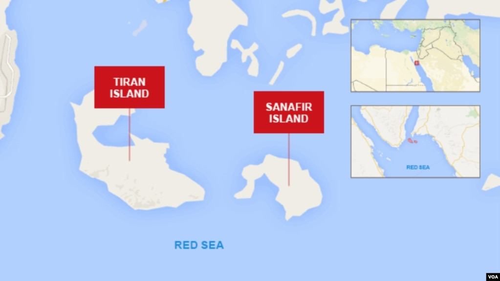 Israel Signals No Opposition To Egypts Return Of Islands To Saudi - Map of egypt israel and saudi arabia