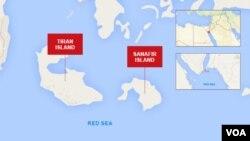 Tiran and Sanafir Islands