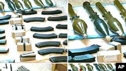 사나통신이 공개한 압수 무기들