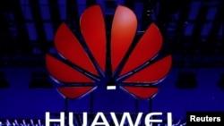 Archivo- El logo de Huawei visto durante el Mobile World Congress en Barcelona, España, febrero 26, 2018.