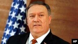 Menteri Luar Negeri AS Mike Pompeo, di Universitas Amerika di Kairo, Mesir, Januari 10, 2019. (Foto: dok).