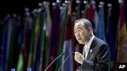 联合国秘书长潘基文1月16日在迪拜举行的有关世界未来的峰会上