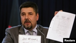 Rahmatullah Nabil, head of Afghanistan's National Directorate of Security (NDS), during a news conference in Kabul, September 7, 2011.
