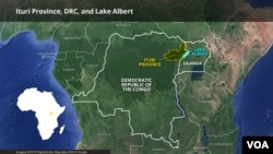 Ituri Province, DRC, and Lake Albert