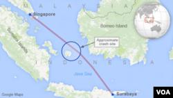 Bản đồ địa điểm rớt máy bay.
