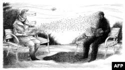 M.K.Perker'in New York Times'da yayınlanan çizimlerinden bir örnek