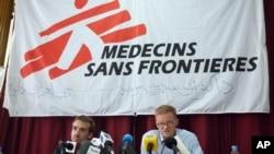 Médecins Sans Frontières (MSF) lors d'une réunion à Kaboul, le 8 octobre 2015.