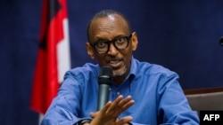 Paul Kagame, chef de l'état sortant du Rwanda, candidat à sa propre succession à la présidentielle du 4 août, 22 juin 2017.